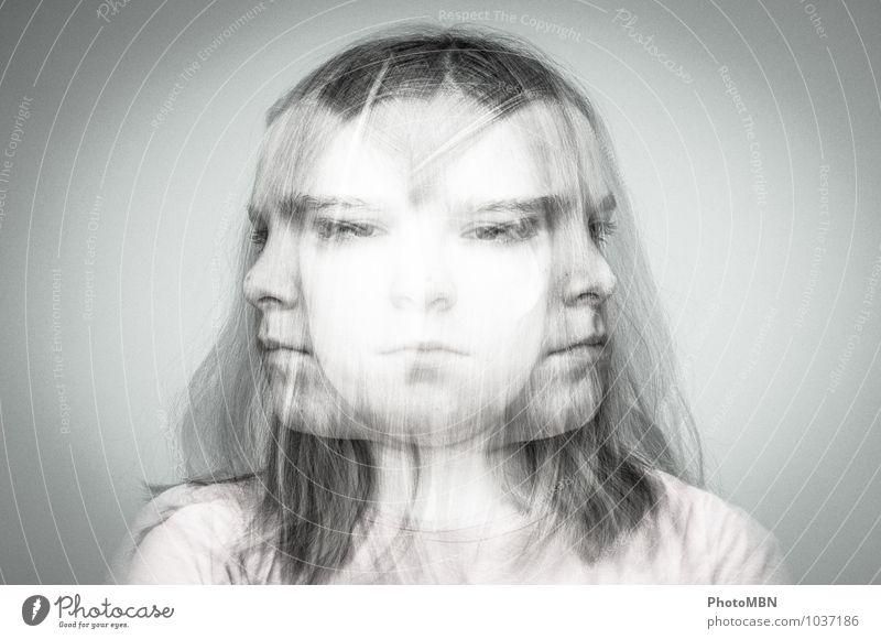 Kein Ausweg Mensch Kind Jugendliche Mädchen dunkel Gesicht Traurigkeit Gefühle feminin grau Glück Gesundheit Stimmung Gesundheitswesen trist Kindheit