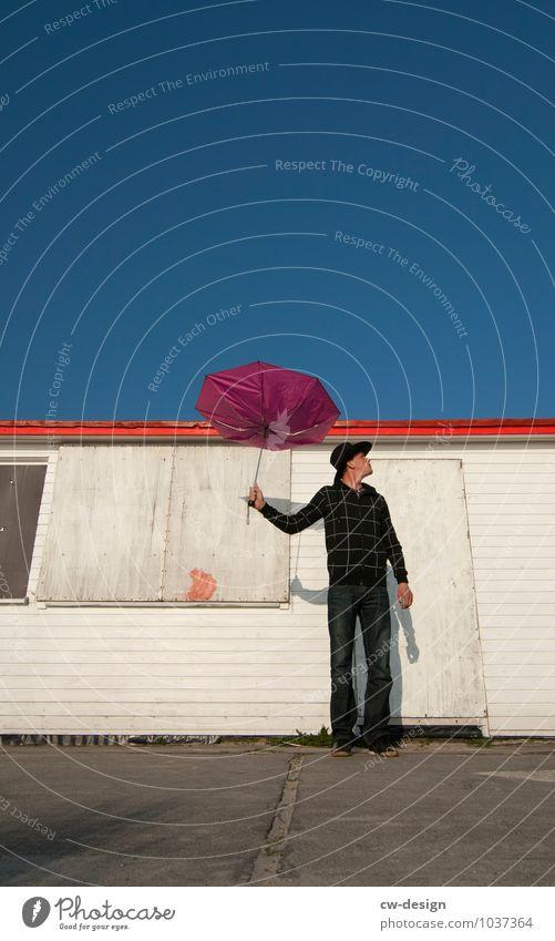 Mein Umbrella Lifestyle Stil Freude Freizeit & Hobby Mensch maskulin Junger Mann Jugendliche Erwachsene Leben 1 18-30 Jahre 30-45 Jahre Hut Regenschirm