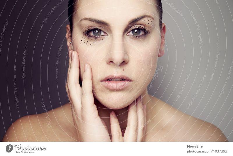 Na1. schön Körperpflege Gesicht Kosmetik Schminke Wimperntusche Wellness harmonisch Sinnesorgane Meditation Spa Fitness Sport-Training Sportler Mensch feminin