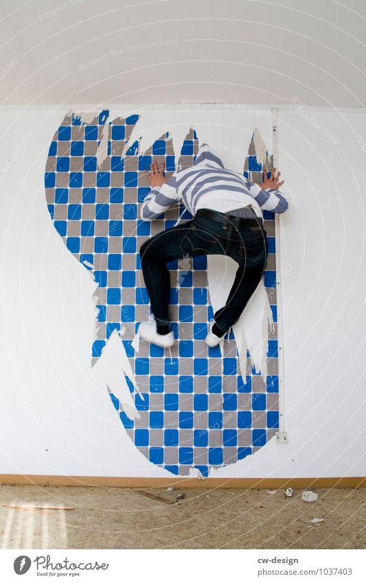 990 Freudensprünge Mensch Jugendliche Mann Junger Mann 18-30 Jahre Erwachsene Leben Innenarchitektur Stil Lifestyle Spielen Glück Freiheit fliegen springen