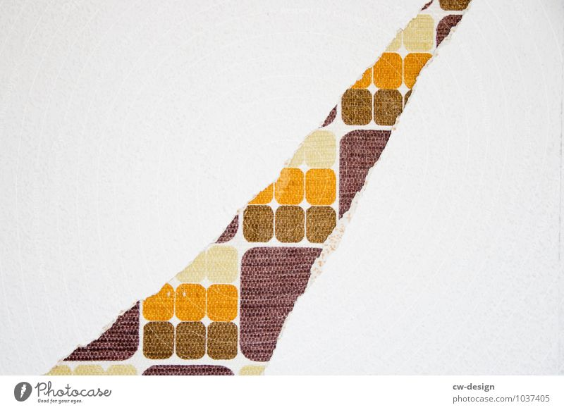 Tapezierst Du neu? alt Innenarchitektur Stil braun Kunst Lifestyle Wohnung orange Häusliches Leben Design Dekoration & Verzierung elegant authentisch verrückt ästhetisch Kultur