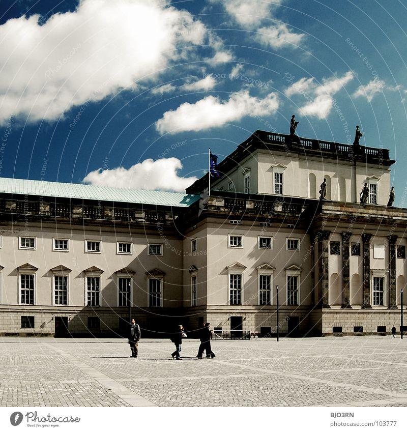 Staatsoper 'Unter Den Linden' Mensch Himmel blau Stadt Wolken Berlin Musik Deutschland Kultur gut Quadrat unten Denkmal historisch