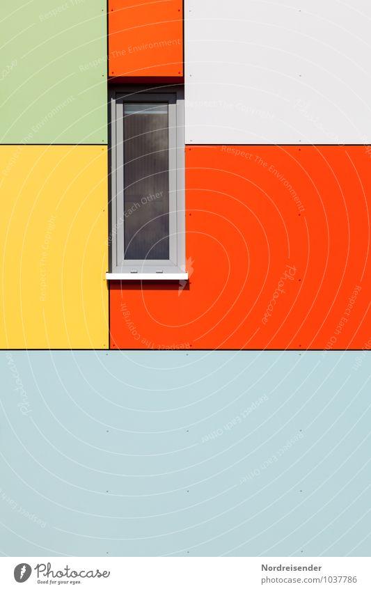 Gib dem Leben Farbe.... Stadt Haus Fenster Wand Architektur Gebäude Mauer Hintergrundbild Metall Fassade Häusliches Leben modern frisch Fröhlichkeit