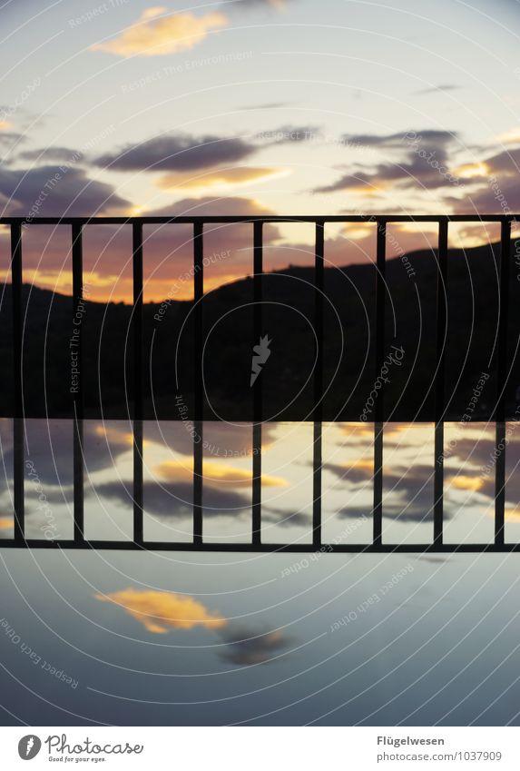Balkonien in Katalonien Ferien & Urlaub & Reisen Himmel (Jenseits) Sonne Erholung Wolken Tourismus Erfolg Aussicht genießen Ausflug Abenteuer Pause Geländer Spanien Balkon Spiegel