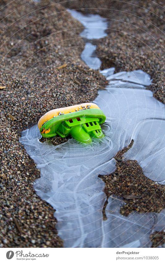 Schiffbruch im Winter ist immer gefährlich grün Meer Freude Strand Gefühle Küste Berlin See Wasserfahrzeug Eis Wellen Verkehr Coolness Frost Seeufer Fluss
