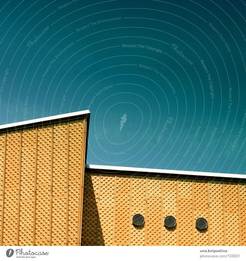ooo Architektur Fassade Fenster rund gelb Berliner Philharmonie 3 Kreis Öffnung Ecke Geometrie Detailaufnahme