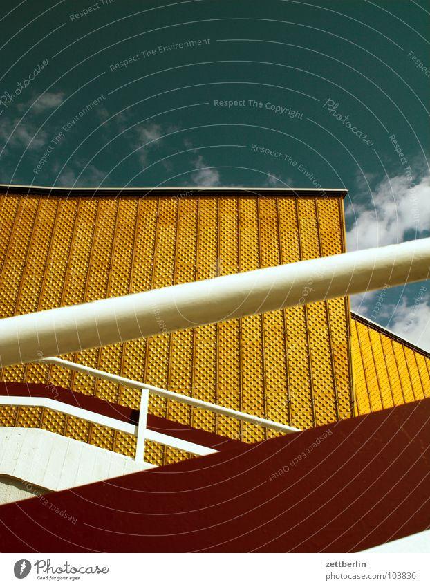 Philharmonie 1 Himmel Sommer Wolken Berlin Wand Architektur Fassade Treppe modern Kultur Show Konzert Swing Berliner Philharmonie Kulturforum Berlin