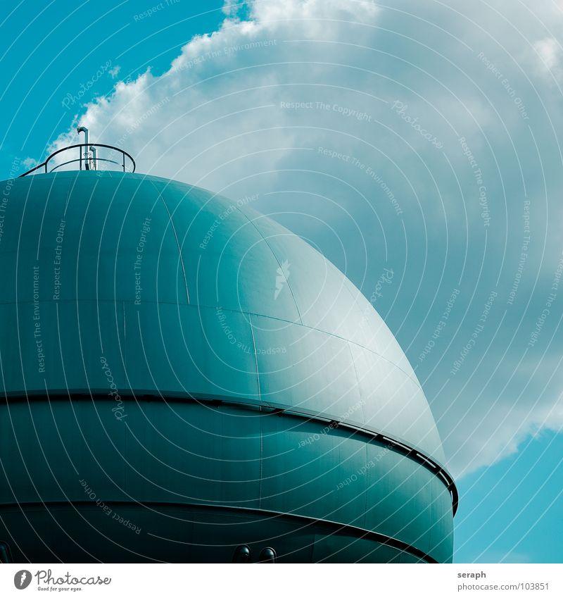 Gastank Industrie Versorgung Kugel Bauwerk Speicher flüssiggas Energie Energiewirtschaft Energie sparen Architektur Konstruktion Gasleitung Emission Erdgas