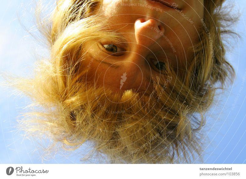 kopfüber ins abenteuer Jugendliche Himmel Sonne blau Sommer Auge Haare & Frisuren Kopf blond Nase Dame brünett Schönes Wetter England Gesicht Pfadfinder