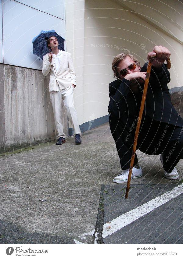 KOLABO [K*LAB*] Mann Anzug Spazierstock Körperhaltung Mensch Lifestyle Sonnenbrille Aktion schick Bremen Karriere Bewegung Geschwindigkeit Tanzen