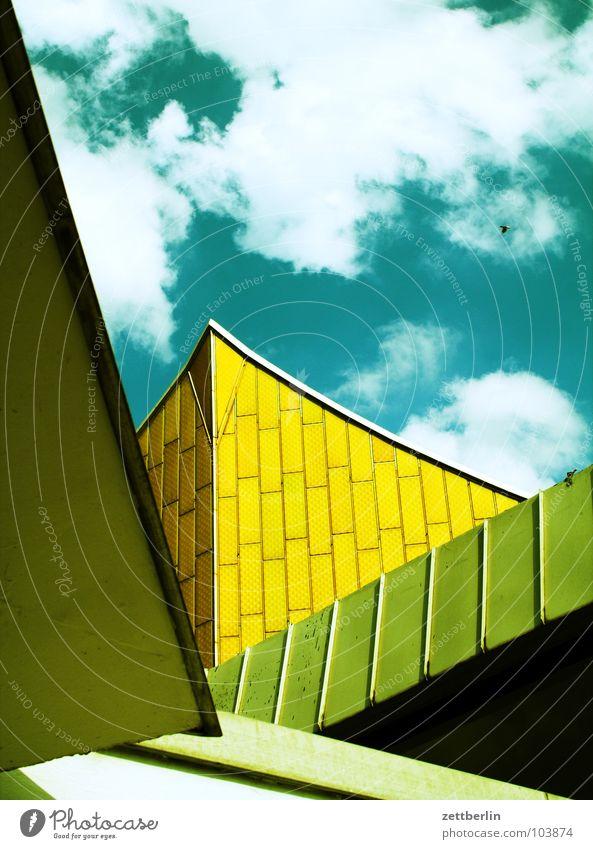 Philharmonie 2 Berliner Philharmonie Kultur Kulturforum Berlin Konzert Wand Fassade Swing Eingang Show Wolken Sommer Architektur philharmoniker herbert von