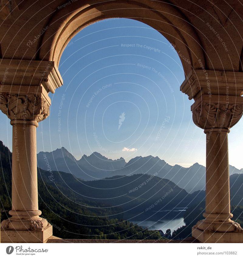 Kini´s Balkon II Sonne Sommer ruhig Berge u. Gebirge Stein verrückt Romantik Aussicht fantastisch Burg oder Schloss Reichtum Denkmal Balkon historisch Bayern Wahrzeichen