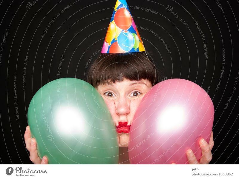 Partymuffel -400- Nachtleben Feste & Feiern Karneval Silvester u. Neujahr Geburtstag Mensch Frau Erwachsene Pony lustig verrückt rosa Freude Neugier