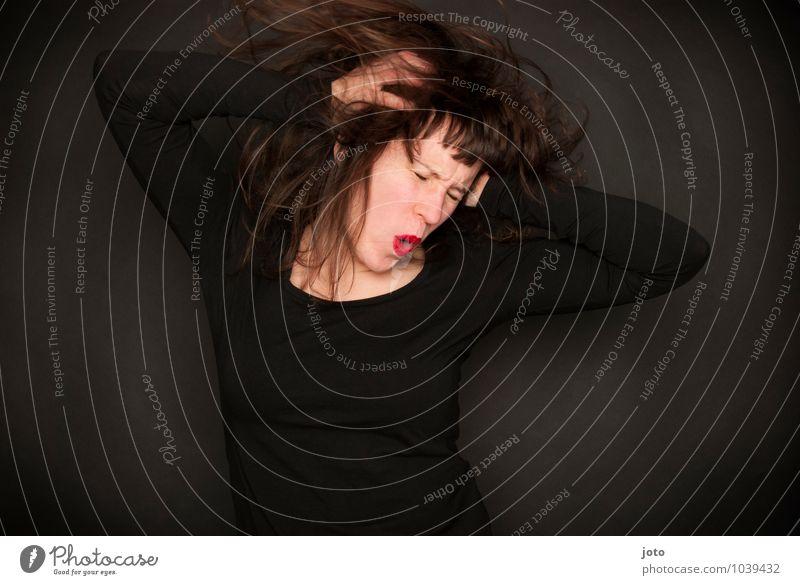 wohoooooooooo Zufriedenheit Sinnesorgane Nachtleben Party Feste & Feiern clubbing Tanzen Mensch Junge Frau Jugendliche Bewegung Musik hören frei Glück verrückt