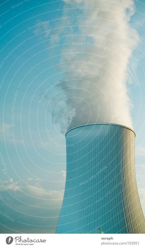 Kühlturm Himmel Wolken Umwelt Architektur dreckig Energiewirtschaft Elektrizität Technik & Technologie Turm Industrie Bauwerk Rauch Konstruktion ökologisch