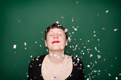 """konfettiserie """"green"""" Freude Glück Leben Wohlgefühl Nachtleben Party Feste & Feiern Karneval Silvester u. Neujahr Geburtstag Mensch Junge Frau Jugendliche"""