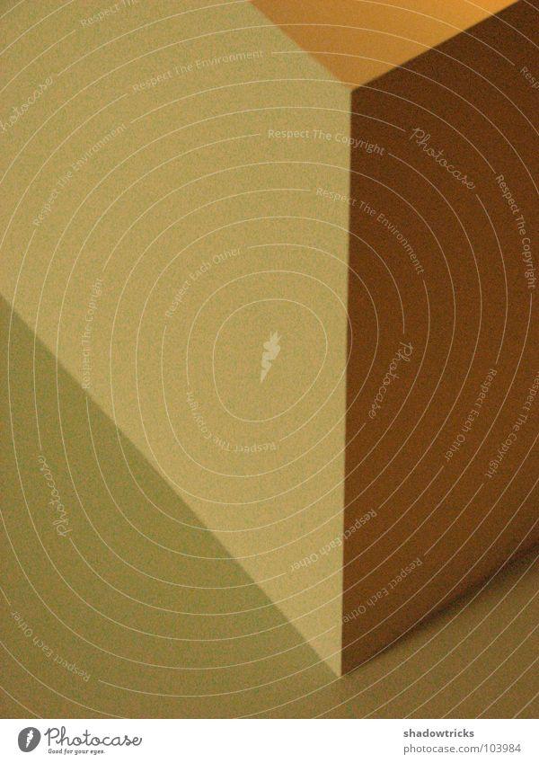 Block gelb Architektur Grafik u. Illustration Geometrie graphisch sehr wenige Bauhaus
