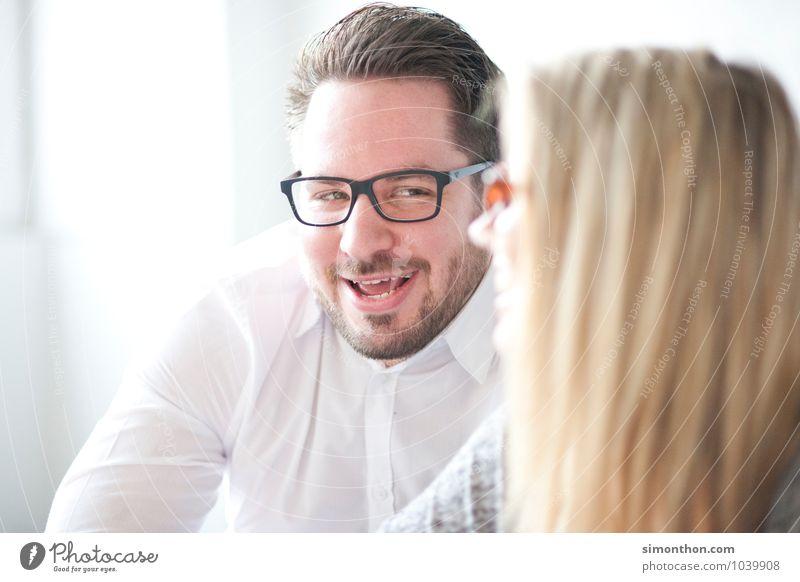Flirt Mensch Freude Leben Liebe sprechen Paar Freundschaft Familie & Verwandtschaft Business Büro Erfolg Kreativität Lebensfreude Kommunizieren Studium Idee