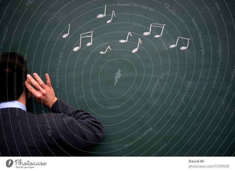 Gehörbildung Musik Tanzen Geburtstag Bildung lernen Klassenraum Tafel Schüler Lehrer Studium Student Hörsaal Prüfung & Examen Mensch maskulin Junger Mann