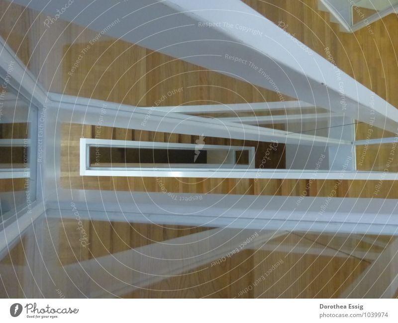 Aufwärts Menschenleer Architektur Museum Treppe Treppenhaus Saarlandmuseum Blick eckig oben unten weiß ruhig ästhetisch elegant modern Ferne Klarheit Farbfoto