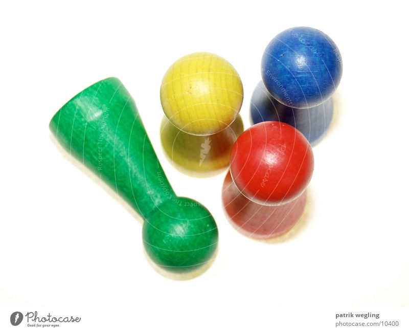 spielfiguren grün blau rot gelb Dinge Spielfigur Spielzeug