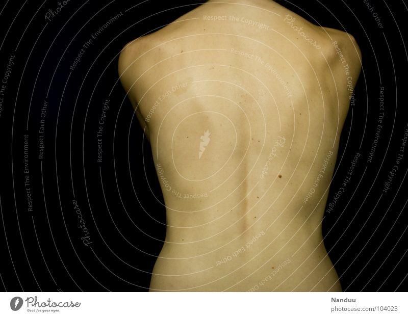 ...kann auch entzücken Frau schön schwarz Erwachsene dunkel feminin nackt Wärme Gesundheit Rücken nah Physik heiß Gitarre Schulter Akt