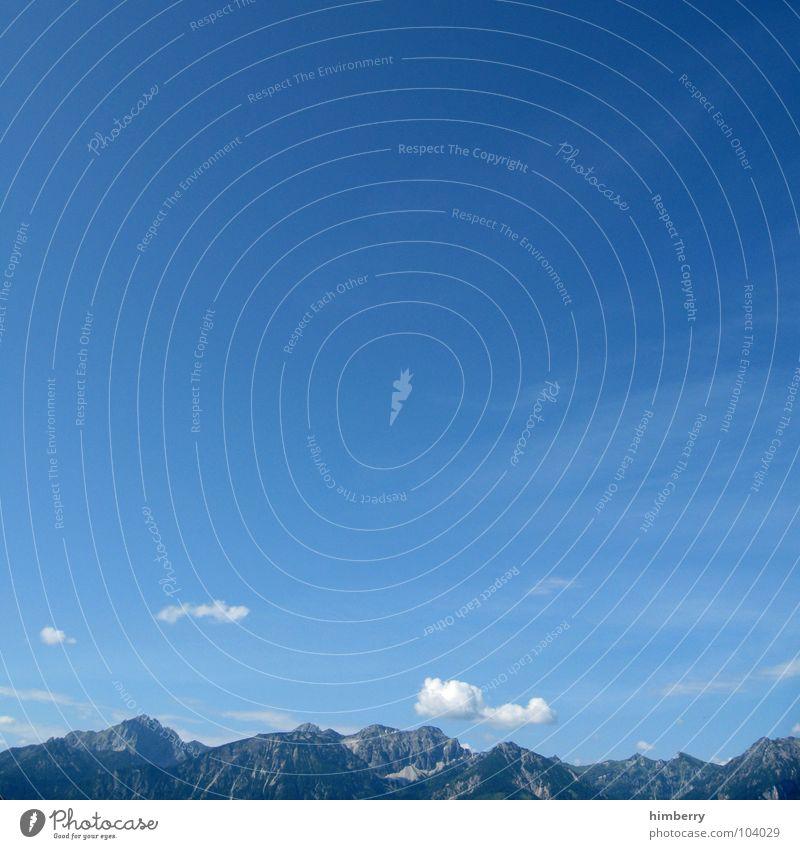 sky unlimited Wolken Panorama (Aussicht) Österreich Hügel Himmel Sommer Ferien & Urlaub & Reisen träumen traumhaft Berge u. Gebirge blau mountain Alpen Blick