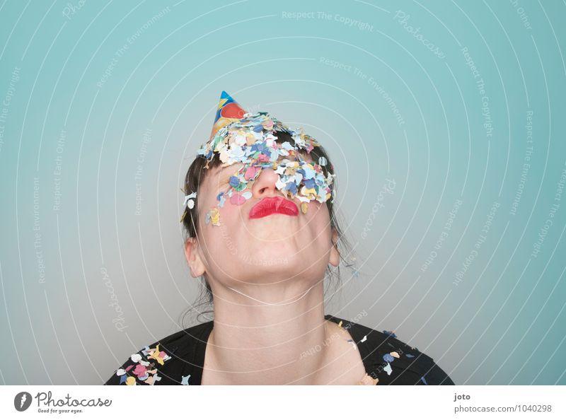 """konfettireihe """"coloured"""" Freude Glück Party Feste & Feiern Karneval Silvester u. Neujahr Geburtstag Mensch Junge Frau Jugendliche frech lustig verrückt"""