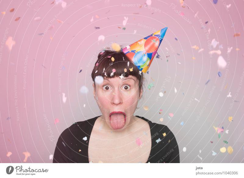 """konfettireihe """"coloured"""" Freude Glück Party Feste & Feiern Karneval Silvester u. Neujahr Geburtstag Mensch Junge Frau Jugendliche werfen frech frei lustig"""