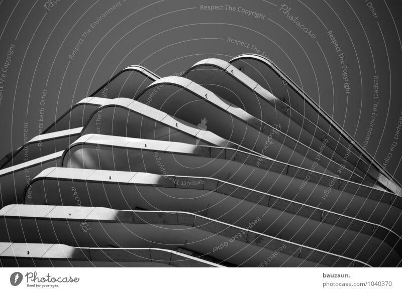 hamburger berge. Stadt Hafenstadt Stadtzentrum Haus Hochhaus Bauwerk Gebäude Architektur Mauer Wand Fassade Linie Streifen bauen beobachten Häusliches Leben