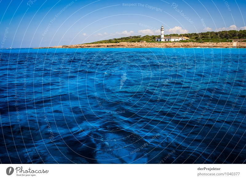 Mallorca von seiner schönen Seite 4 - mal mit Leuchtturm Natur Ferien & Urlaub & Reisen Pflanze Sommer Meer Landschaft Strand Ferne Umwelt Gefühle Küste Freiheit Wellen Tourismus Verkehr Insel
