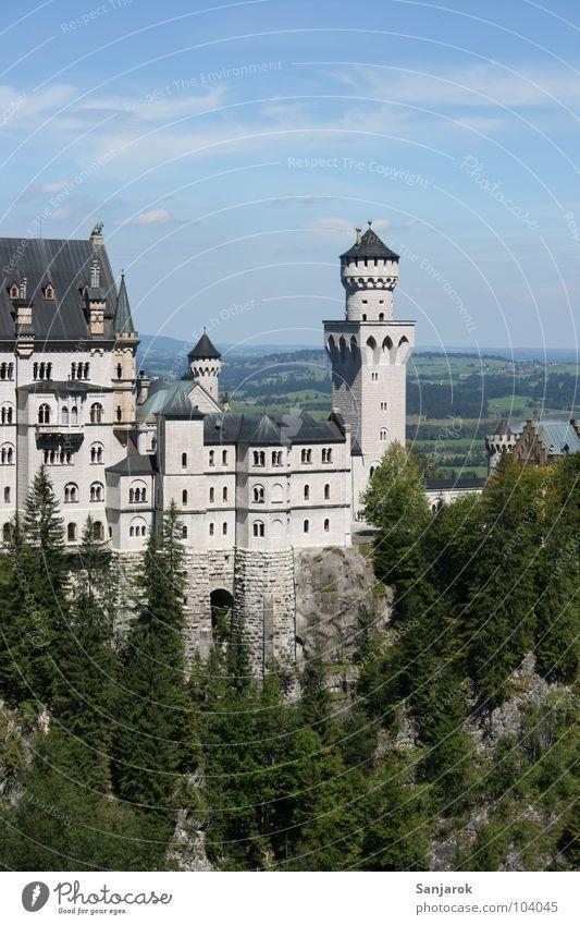 Neuschweinstein oder so ähnlich Himmel Ferien & Urlaub & Reisen Wolken Ferne Wald Freizeit & Hobby Horizont Felsen wandern Aktion Gipfel Burg oder Schloss