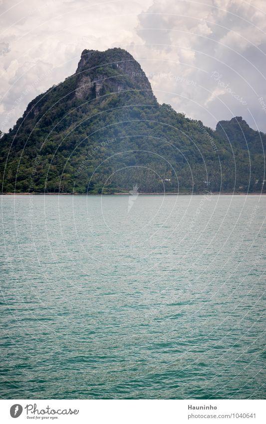 thailändische Inseln ll Himmel Natur Ferien & Urlaub & Reisen Pflanze grün Sommer Wasser Sonne Baum Meer Landschaft Wolken Ferne Berge u. Gebirge Küste Felsen