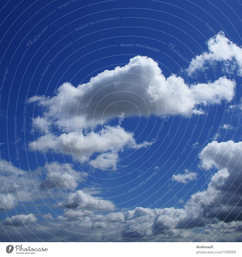 blauer himmel mit wolken himmelblau Pol- Filter Wolken schlechtes Wetter Himmel Wolkenhimmel Sommer Ferien & Urlaub & Reisen träumen Schönes Wetter sky fliegen