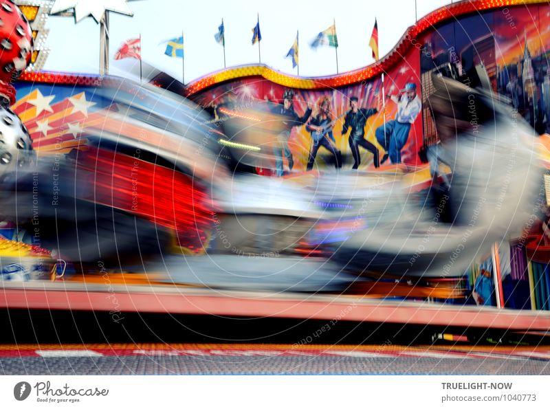 SPEED! blau rot Freude Graffiti Glück Freiheit Feste & Feiern Kunst Freizeit & Hobby Design Musik Ausflug Jugendkultur Kitsch Fahne Veranstaltung