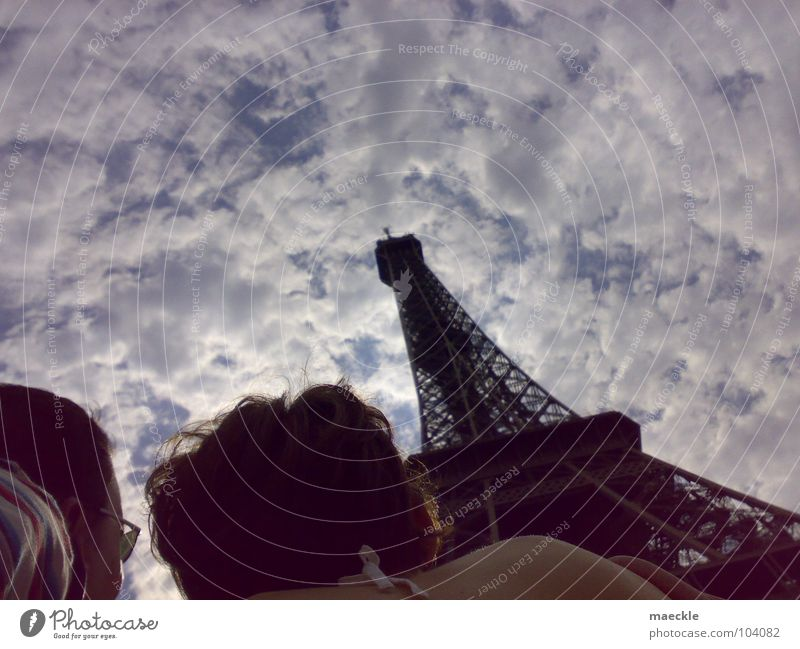 Eine Reise nach Paris Himmel Ferien & Urlaub & Reisen groß Perspektive historisch staunen Lomografie Tour d'Eiffel
