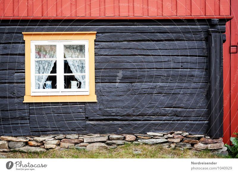 Røros Haus Traumhaus Renovieren Dorf Menschenleer Einfamilienhaus Bauwerk Gebäude Architektur Fassade Fenster Sehenswürdigkeit Häusliches Leben alt