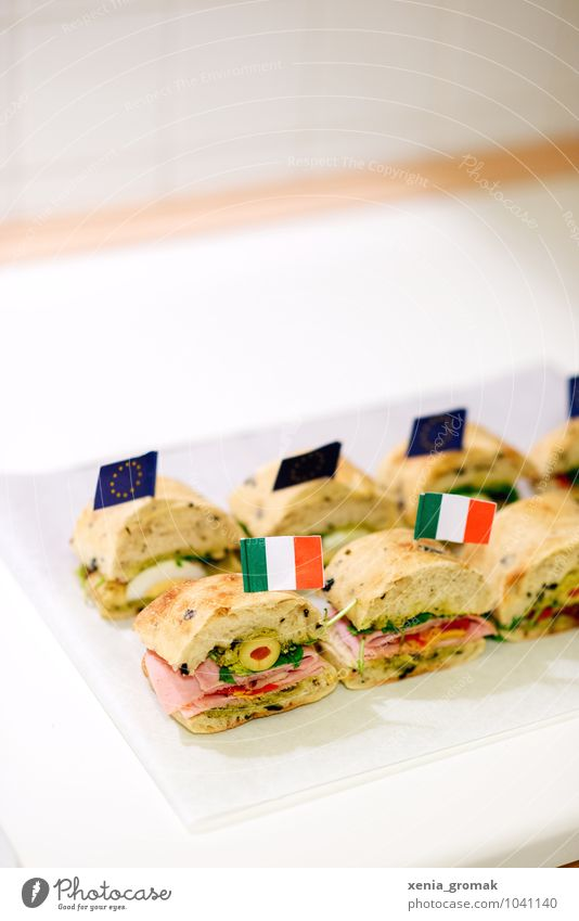Panini Lebensmittel Tourismus Ernährung Ausflug genießen Gemüse Fahne lecker Bioprodukte Frühstück Brot Backwaren Abendessen Fleisch Diät Teigwaren