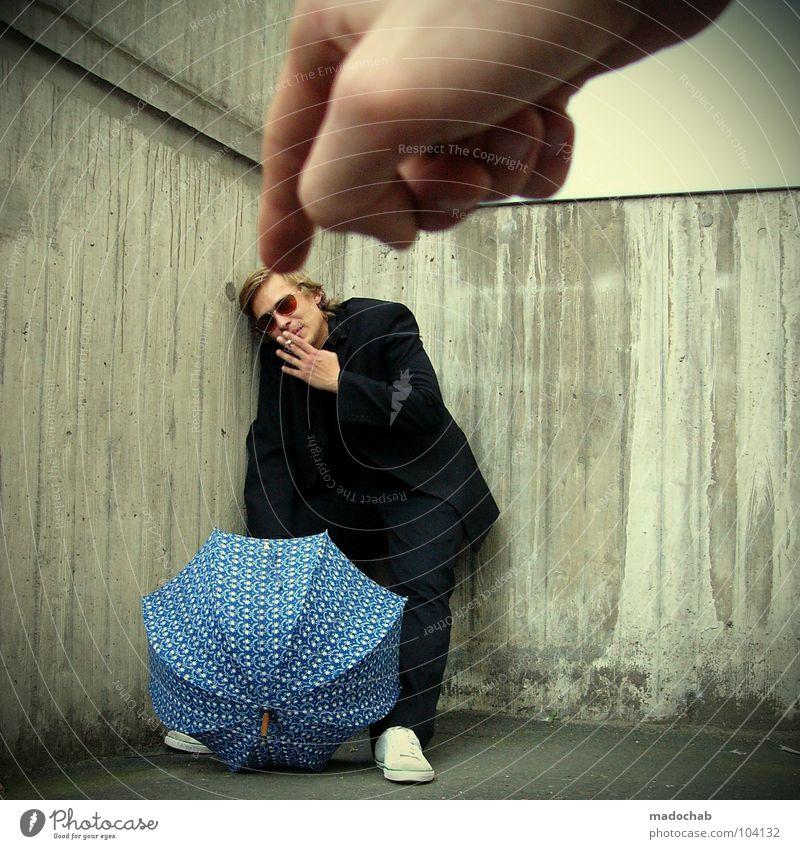 RAUCHVERBOT [K*LAB*] Mann Anzug Spazierstock Körperhaltung Mensch Sonnenbrille Aktion Lifestyle schick Bremen Karriere Bewegung Geschwindigkeit Tanzen