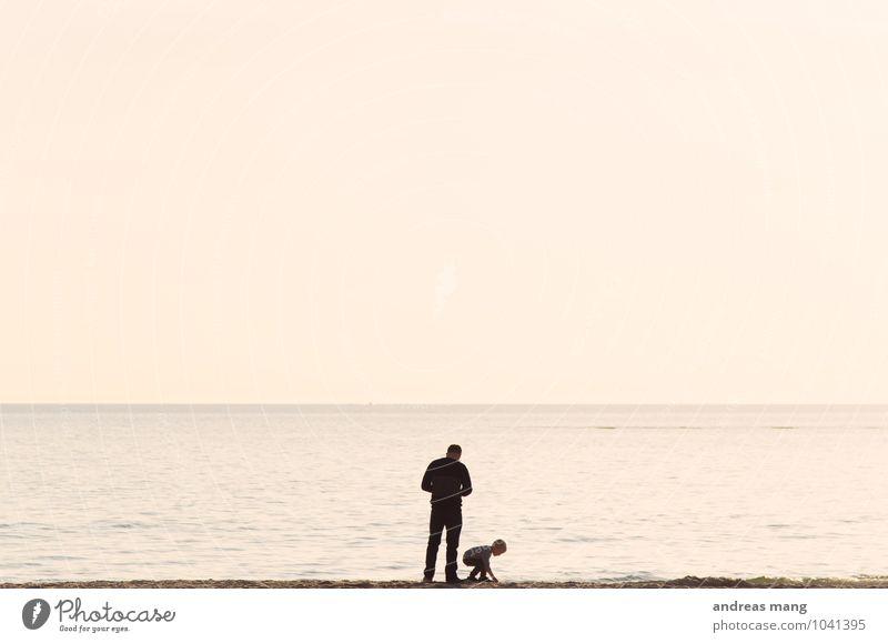 Die Welt entdecken Ferien & Urlaub & Reisen Ausflug Ferne Freiheit Sommer Sommerurlaub Strand Meer Wellen Kind Vater Erwachsene Familie & Verwandtschaft 2