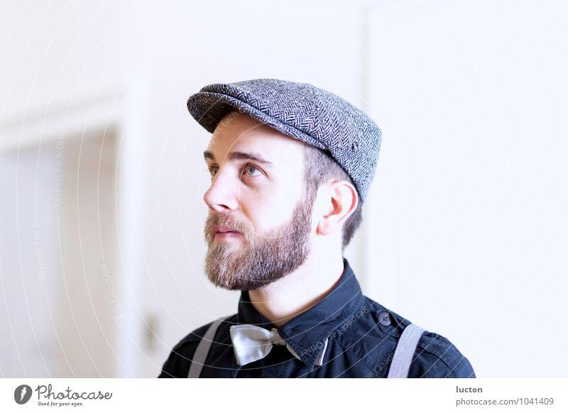Charaktershoot Vol.2 Mensch Jugendliche Mann blau weiß Junger Mann 18-30 Jahre schwarz Erwachsene grau Kopf Mode Lifestyle maskulin träumen Freizeit & Hobby