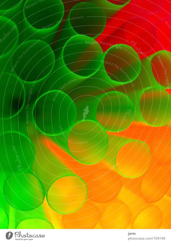 Bunte Welt II mehrfarbig Licht grün rot Makroaufnahme Nahaufnahme Geburtstag Dekoration & Verzierung Halm Farbe orange jarts Feste & Feiern