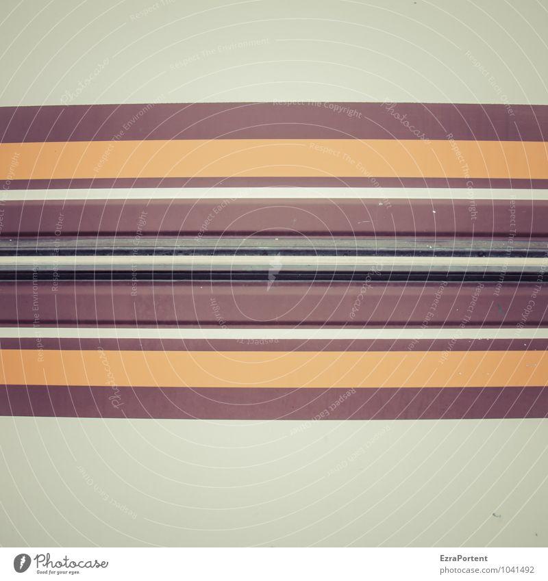 retro Streifen Wohnmobil Wohnwagen Kunststoff Linie ästhetisch braun gelb weiß Design Farbe Karosserie Grafik u. Illustration Grafische Darstellung graphisch