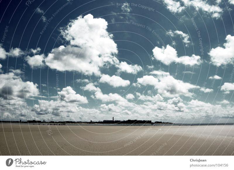 Titellos Himmel Meer blau Strand Wolken dunkel Sand Küste wandern gehen Wetter laufen fliegen Horizont Insel tief
