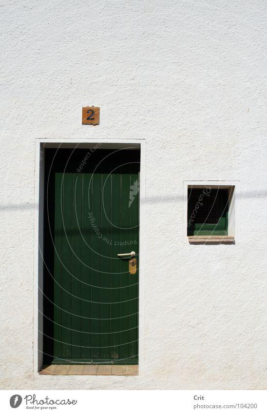 green door 2 Detailaufnahme window number two contrast living building