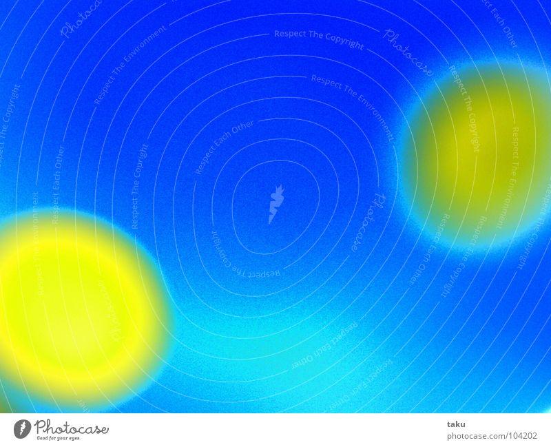 DOTS gelb Kreis abstrakt grell knallig 2 Farbe blau Punkt dots Lampe Kontrast ...
