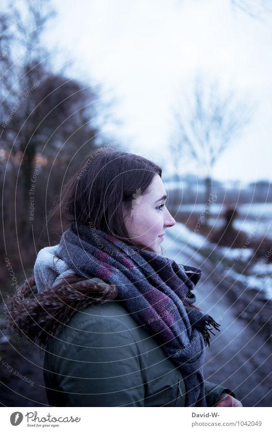 hübsch natürlich jung schön attraktiv Gesicht Leben feminin Mädchen Junge Frau Jugendliche Schwester Erwachsene 13-18 Jahre Kind 18-30 Jahre Winter Eis Frost