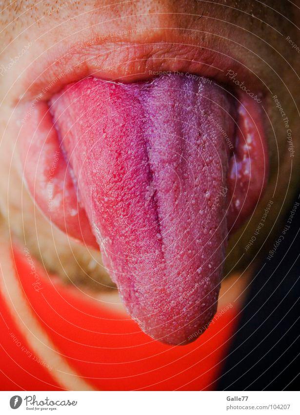 Farbe bekennen Freude Ernährung lustig Mund süß Spitze berühren Wut Verkehrswege Zunge zeigen Gefäße Unsinn salzig Organ Putztuch