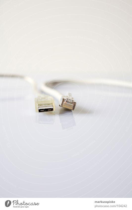 LAN & USB Kabel Technik & Technologie Informationstechnologie Computernetzwerk Verbindung E-Mail Stecker Portwein Schnittstelle