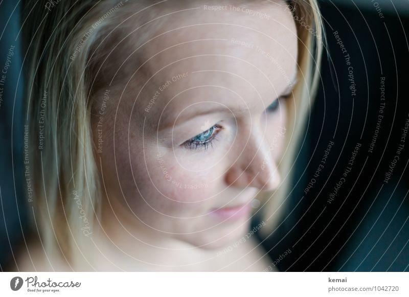 Cause blue eyes Stil Mensch feminin Junge Frau Jugendliche Erwachsene Leben Kopf Gesicht Auge Nase 1 18-30 Jahre blond langhaarig schön blau Vorsicht